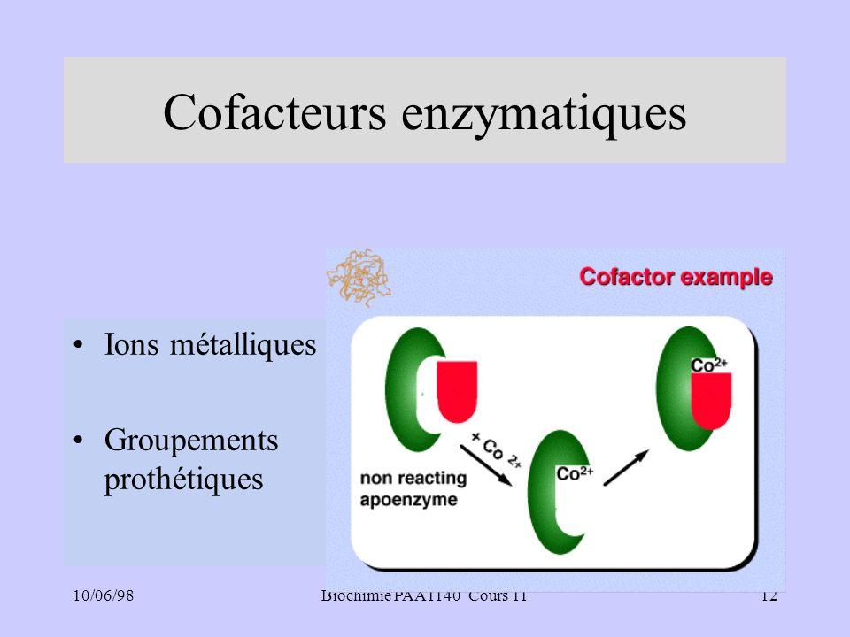 Cofacteurs enzymatiques