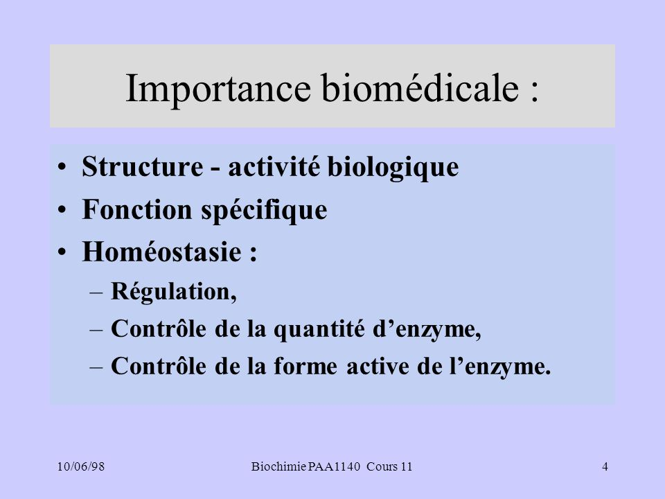 Importance biomédicale :