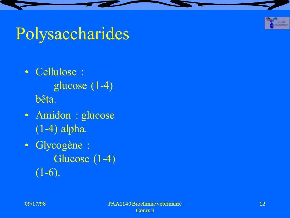 PAA1140 Biochimie vétérinaire Cours 3