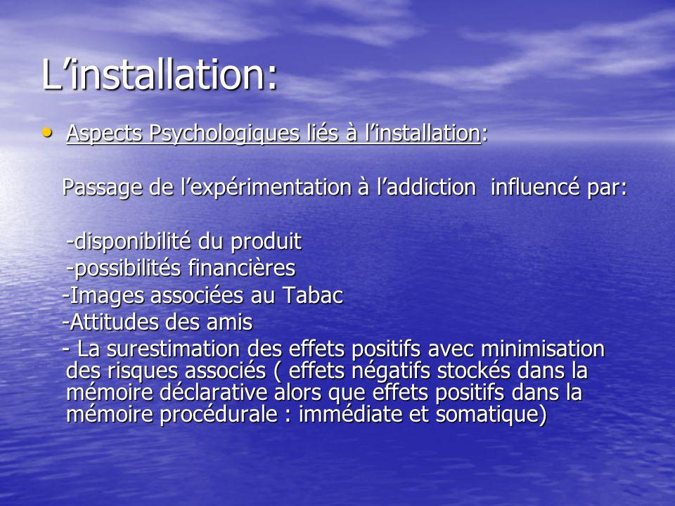 L'installation: Aspects Psychologiques liés à l'installation: