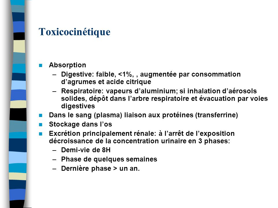 Toxicocinétique Absorption