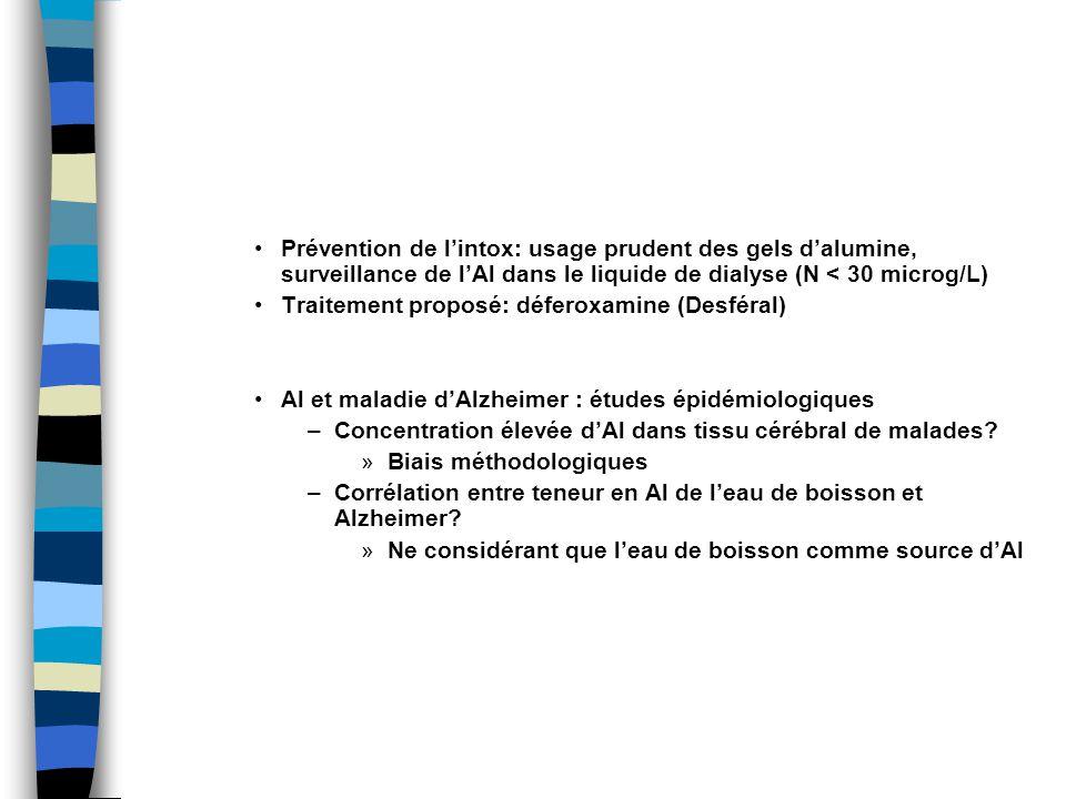 Traitement proposé: déferoxamine (Desféral)