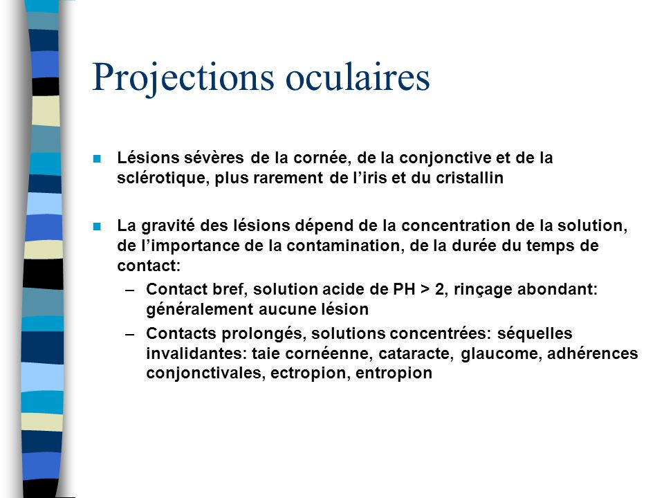 Projections oculaires