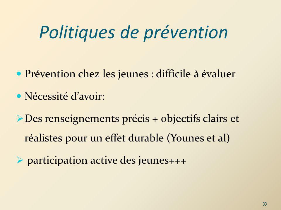 Politiques de prévention