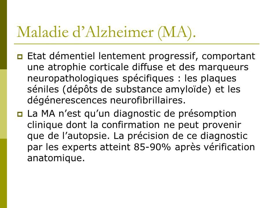 Maladie d'Alzheimer (MA).