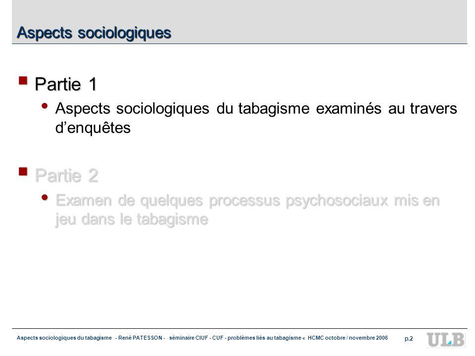 Aspects sociologiques