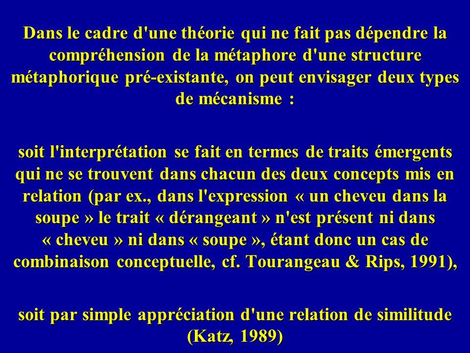soit par simple appréciation d une relation de similitude (Katz, 1989)