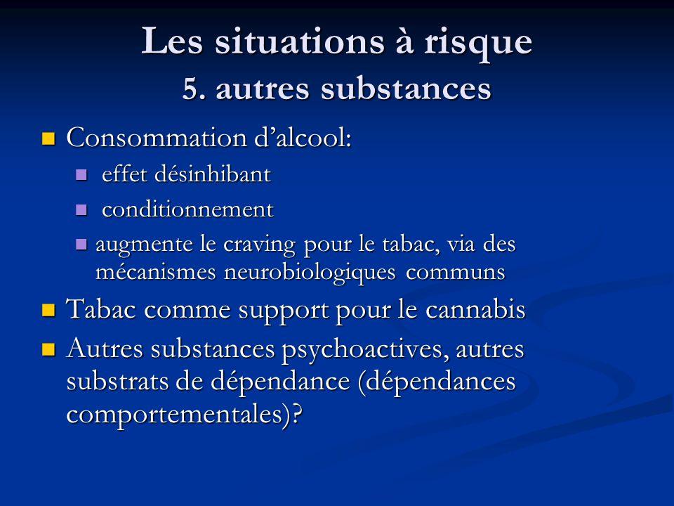 Les situations à risque 5. autres substances