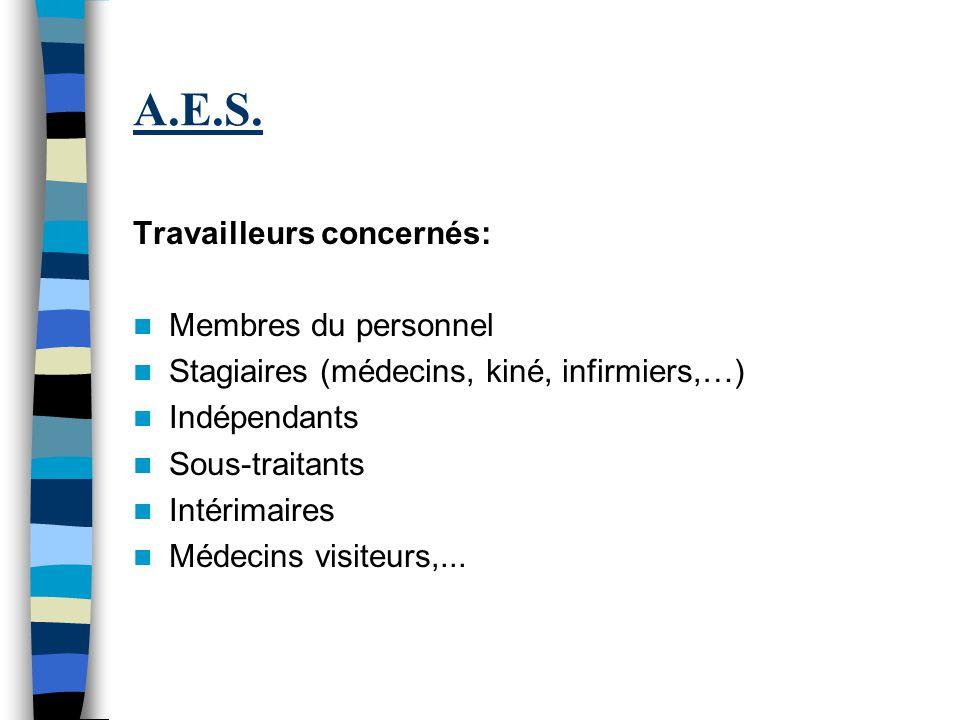A.E.S. Travailleurs concernés: Membres du personnel