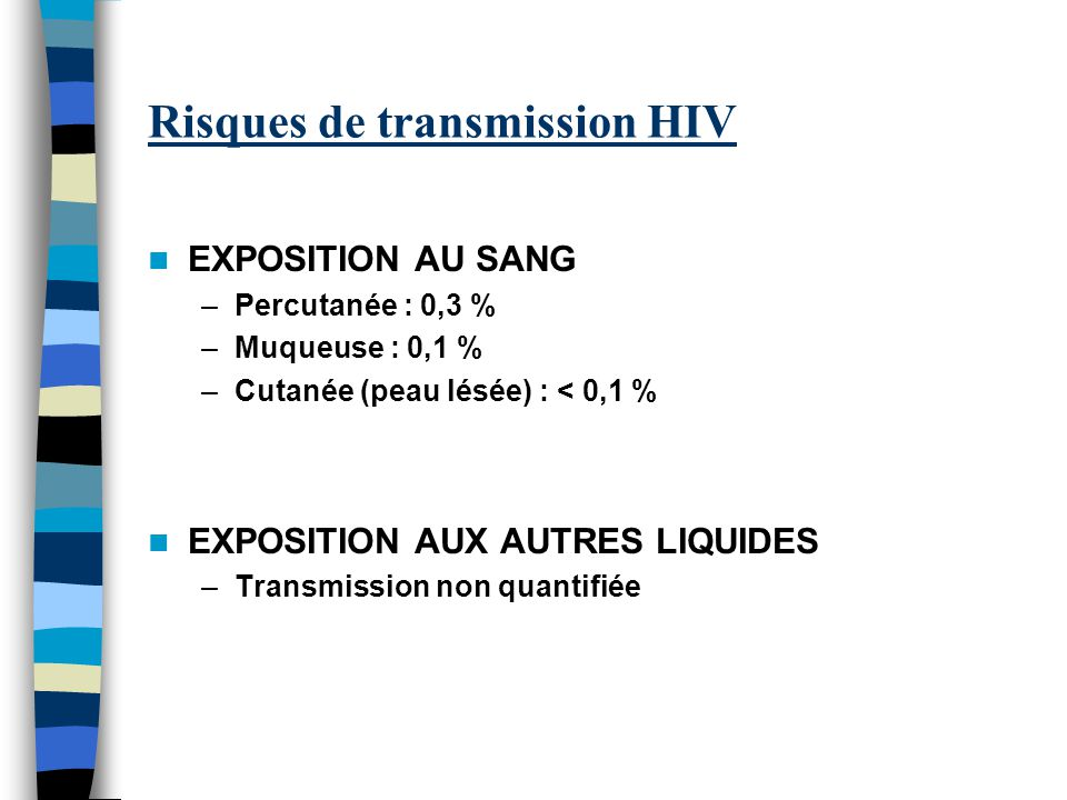 Risques de transmission HIV