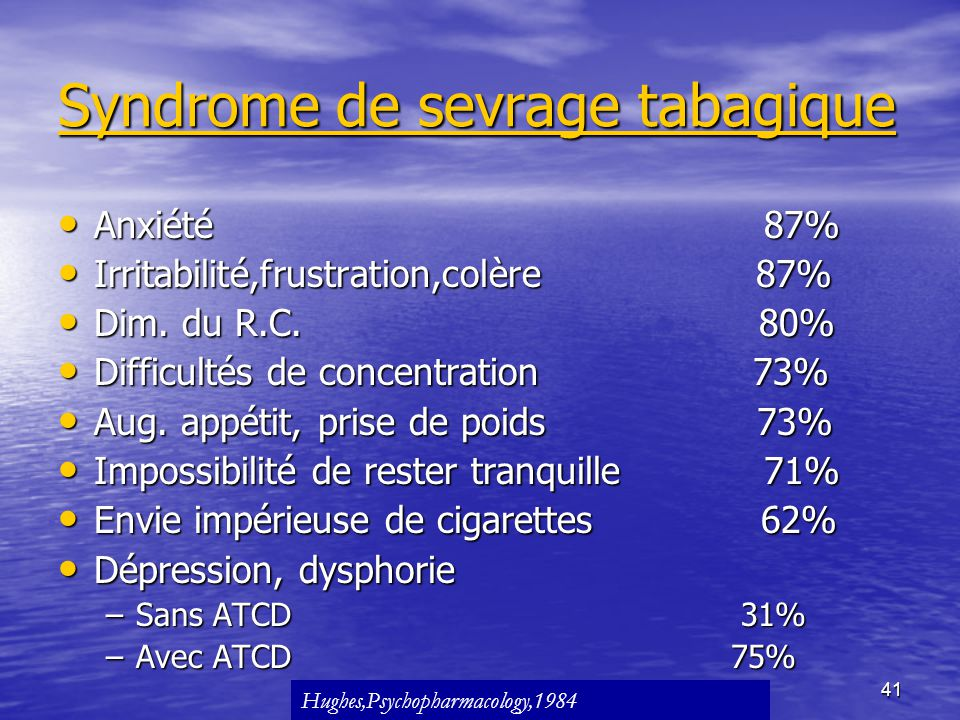 Syndrome de sevrage tabagique