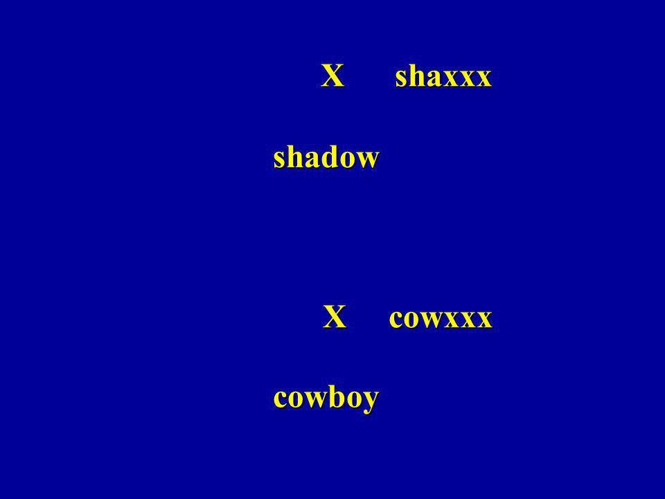 X shaxxx shadow X cowxxx cowboy