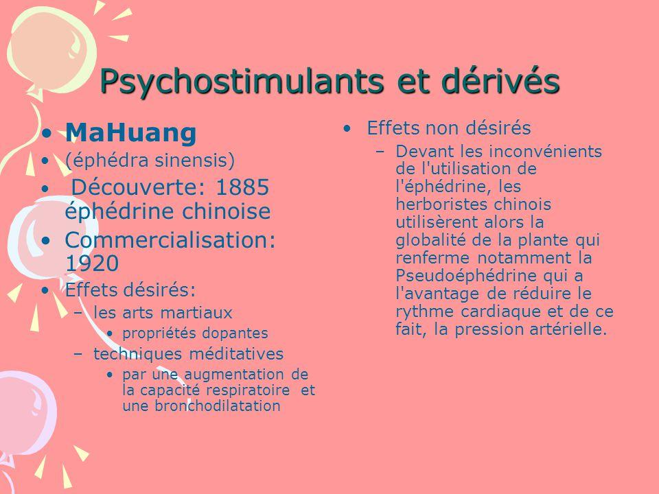 Psychostimulants et dérivés