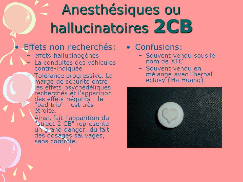 Anesthésiques ou hallucinatoires 2CB