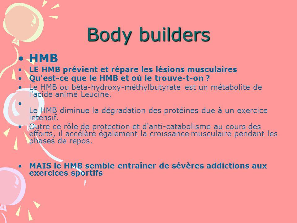 Body builders HMB LE HMB prévient et répare les lésions musculaires