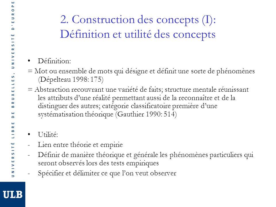 2. Construction des concepts (I): Définition et utilité des concepts