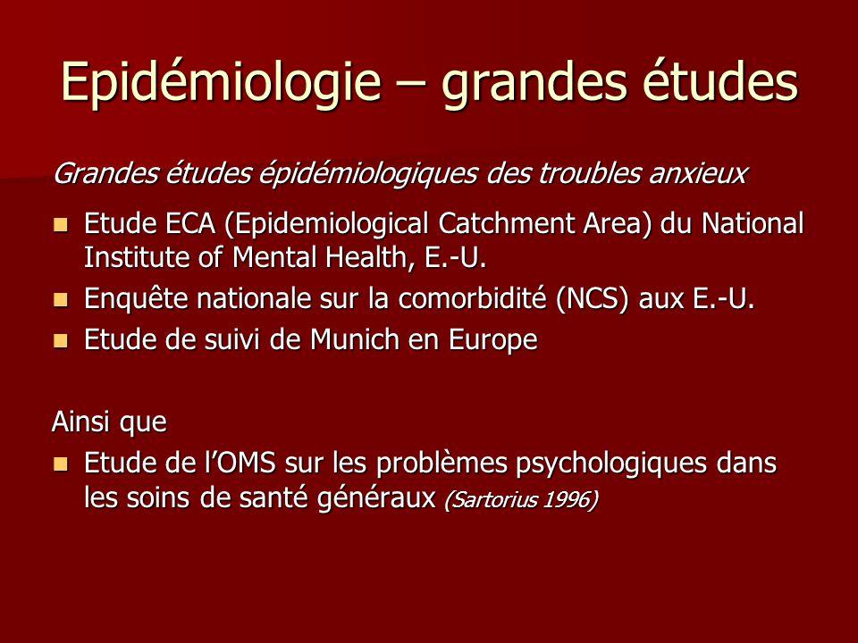 Epidémiologie – grandes études