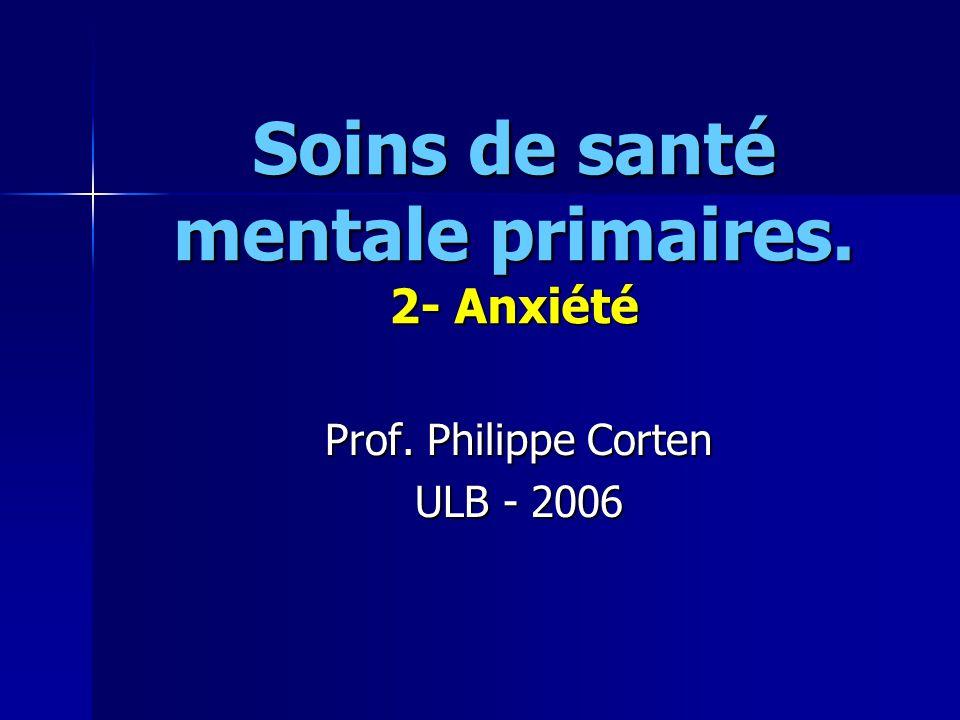 Soins de santé mentale primaires. 2- Anxiété
