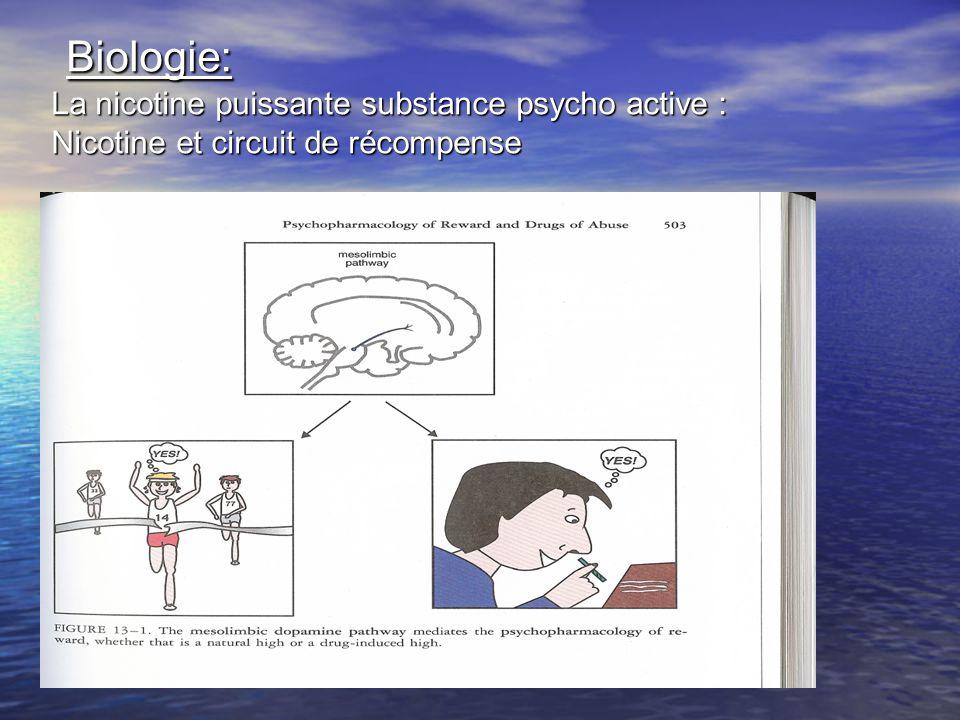 Biologie: La nicotine puissante substance psycho active : Nicotine et circuit de récompense