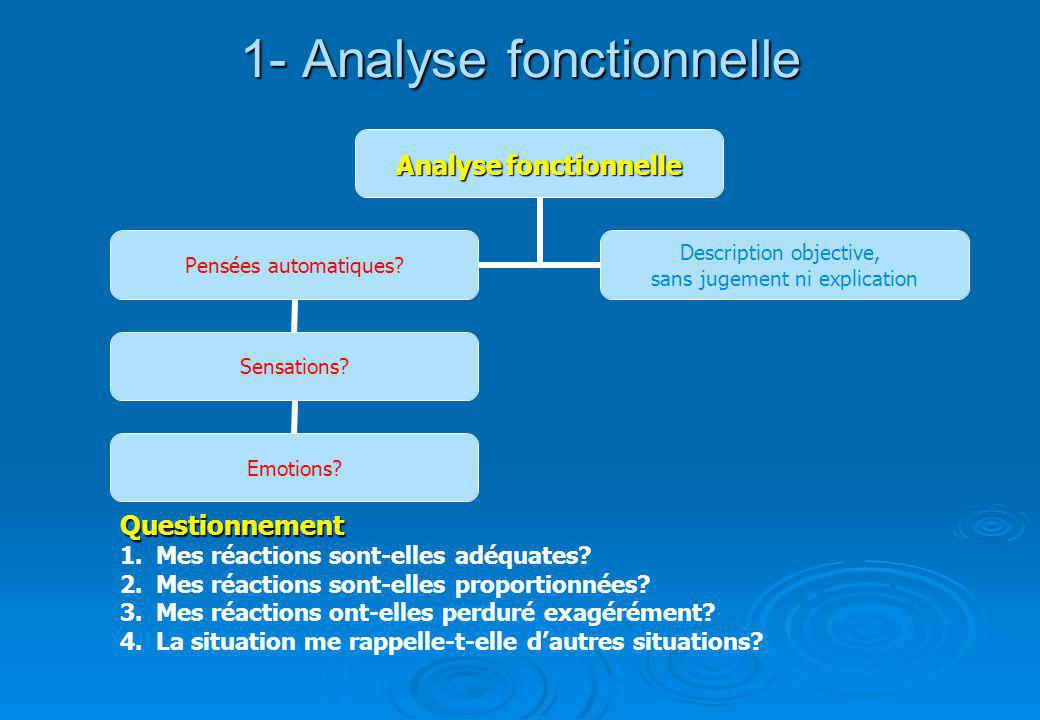 1- Analyse fonctionnelle