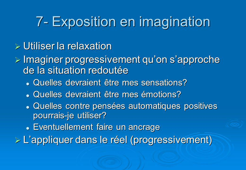 7- Exposition en imagination
