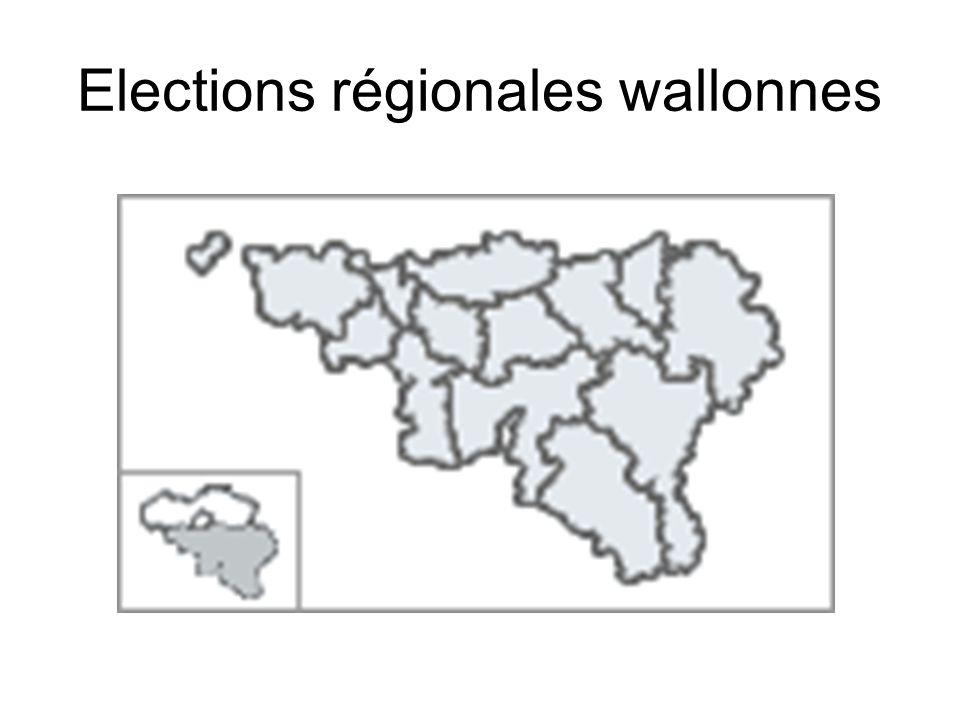 Elections régionales wallonnes