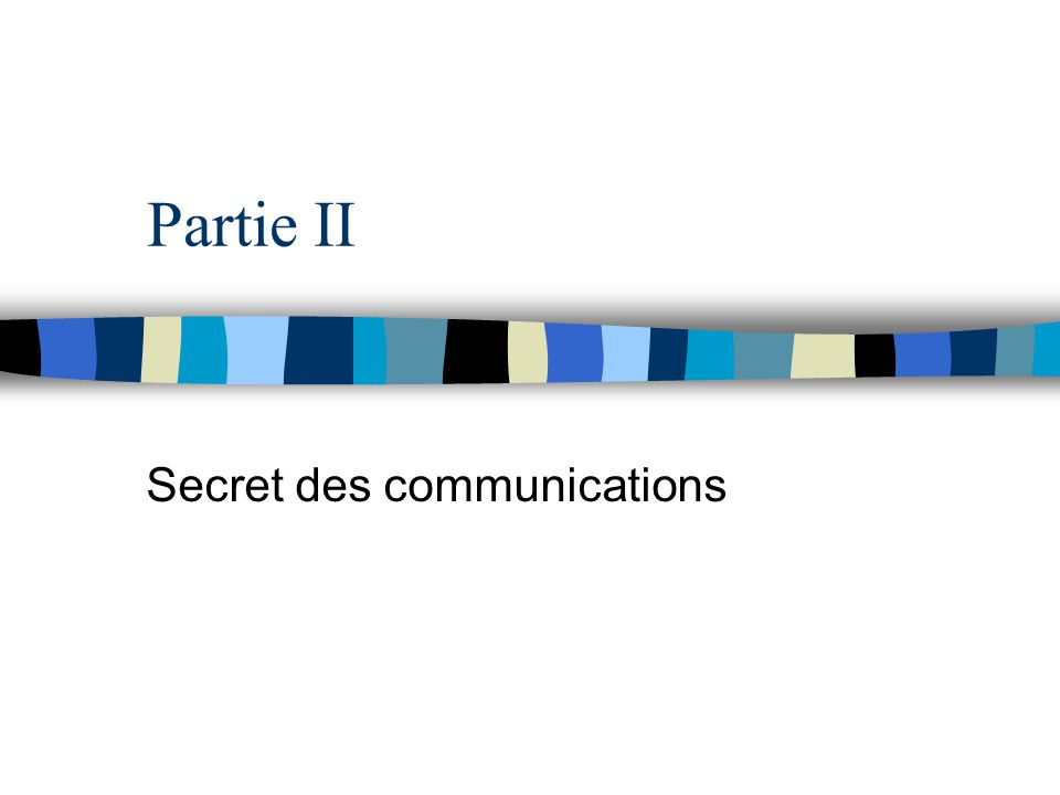 Secret des communications
