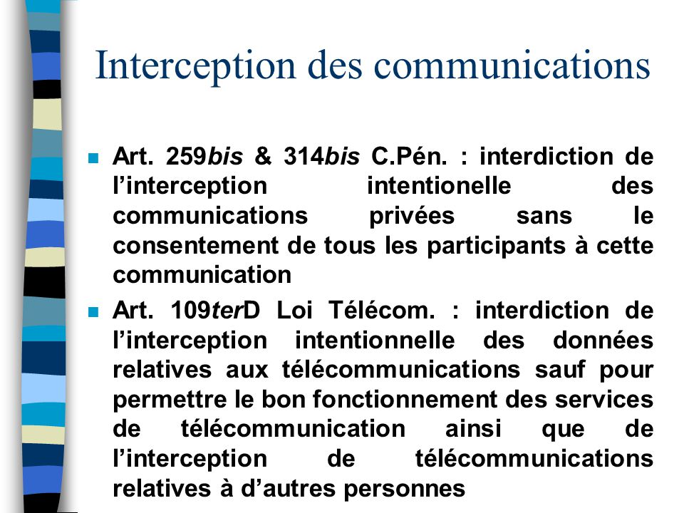 Interception des communications