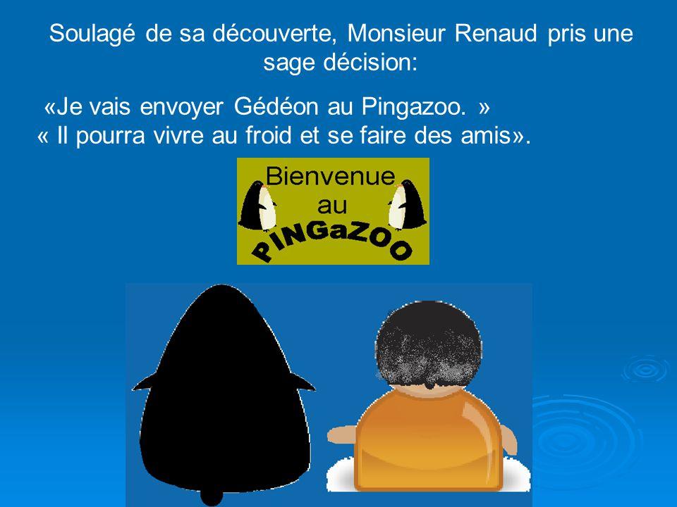 Soulagé de sa découverte, Monsieur Renaud pris une sage décision: