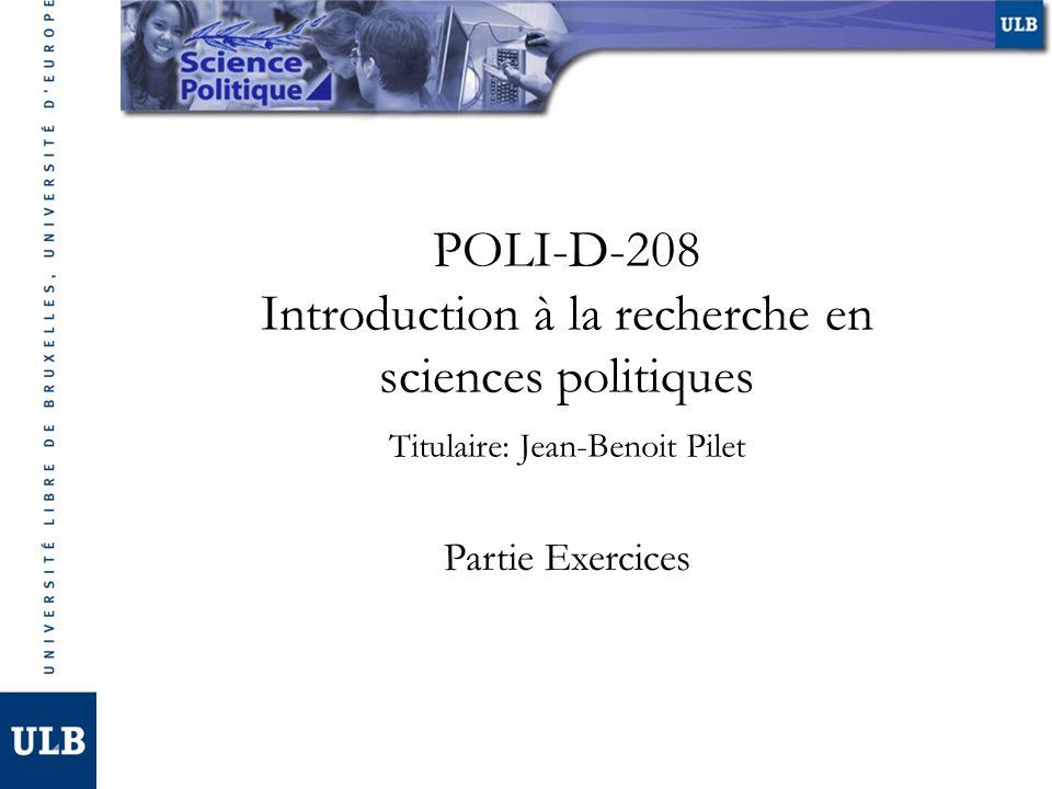 Introduction à la recherche en sciences politiques