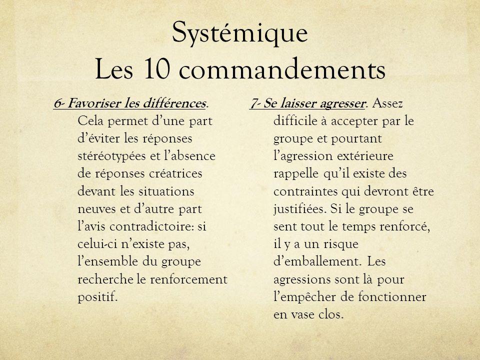 Systémique Les 10 commandements