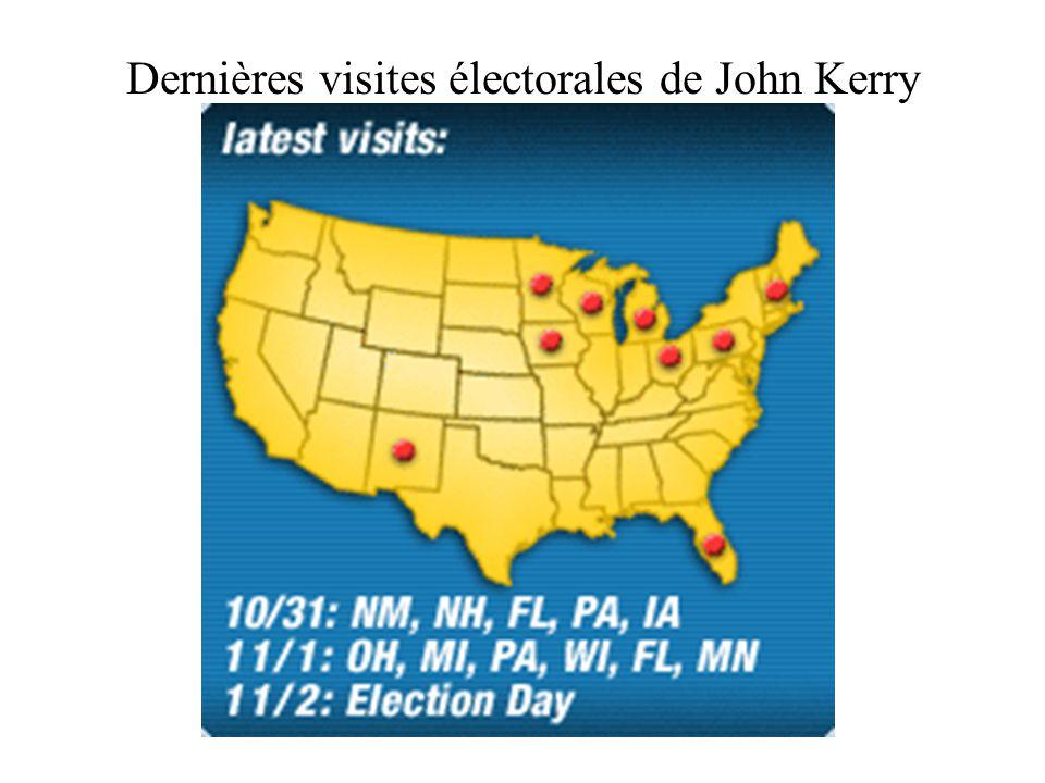 Dernières visites électorales de John Kerry