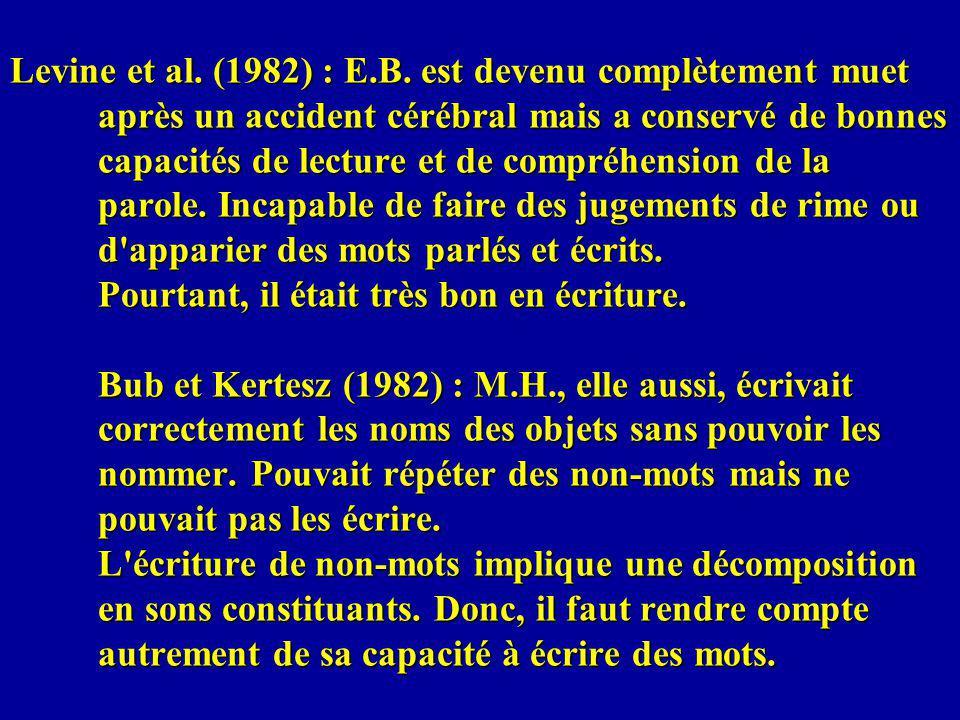 Levine et al. (1982) : E.B.