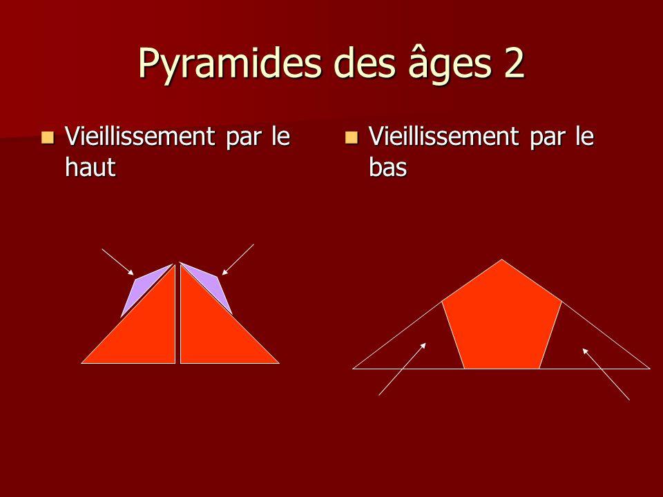 Pyramides des âges 2 Vieillissement par le haut
