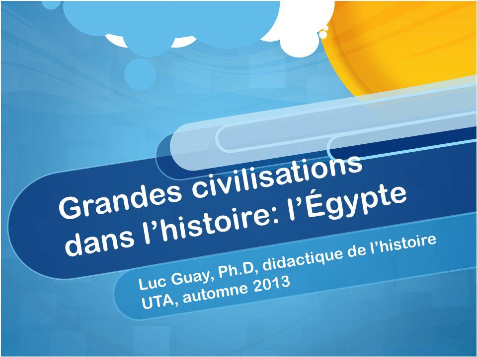 Grandes civilisations dans l'histoire: l'Égypte