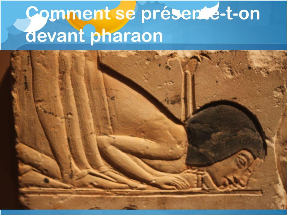Comment se présente-t-on devant pharaon