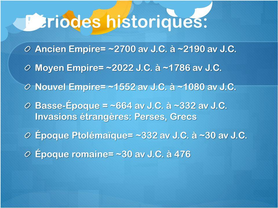 Périodes historiques: