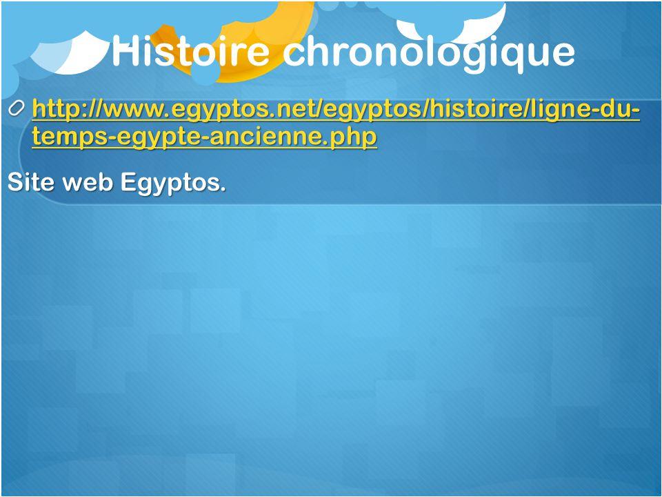 Histoire chronologique