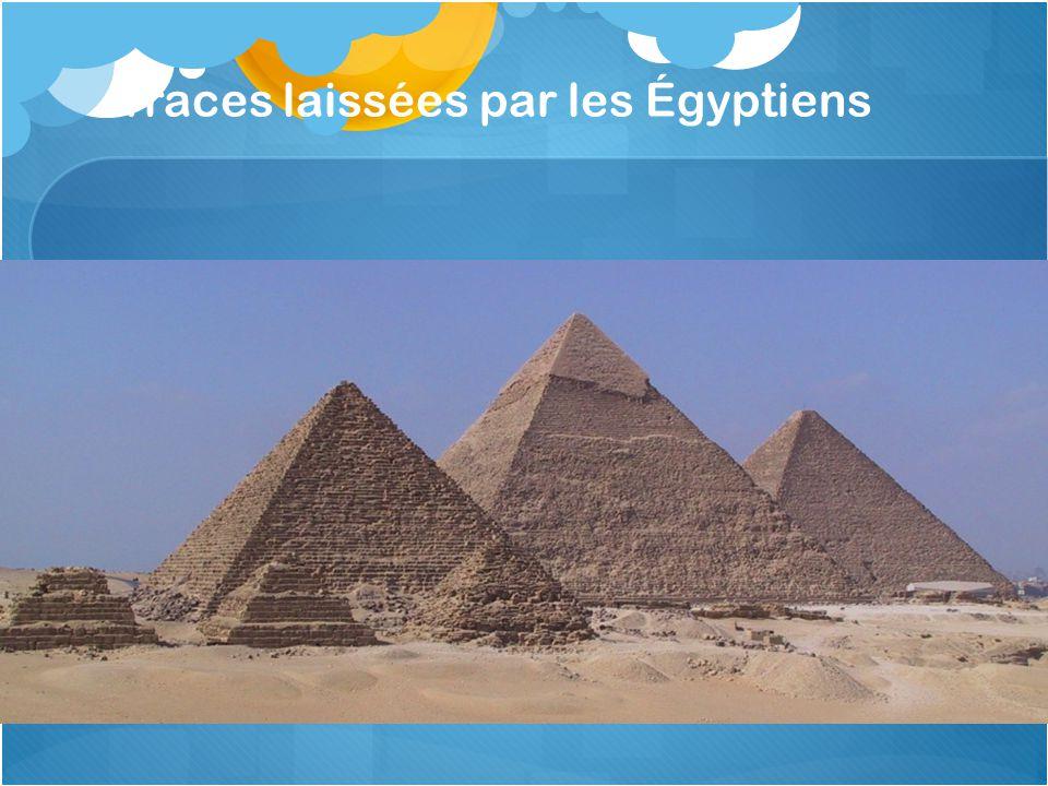 Traces laissées par les Égyptiens