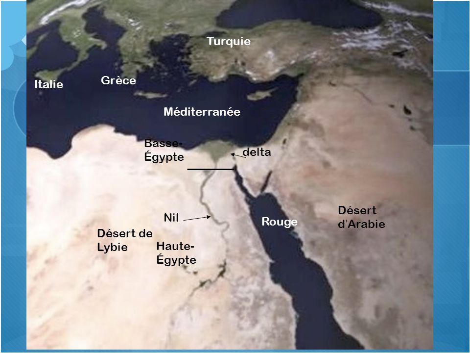 Situation spatiale de l'Égypte