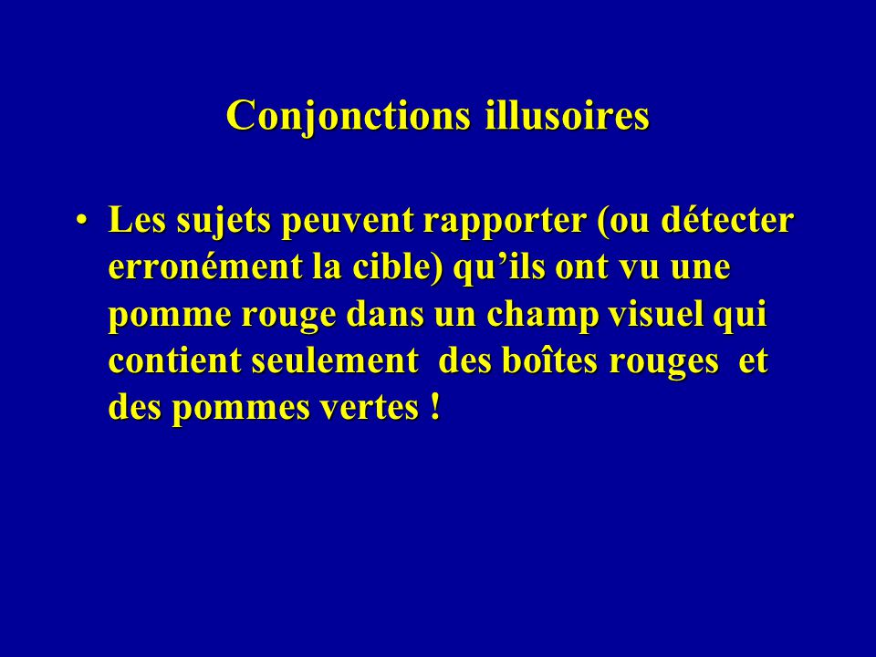 Conjonctions illusoires