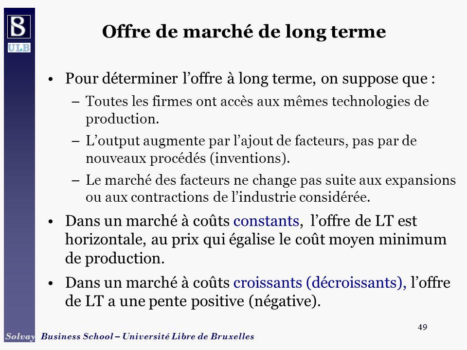 Offre de marché de long terme