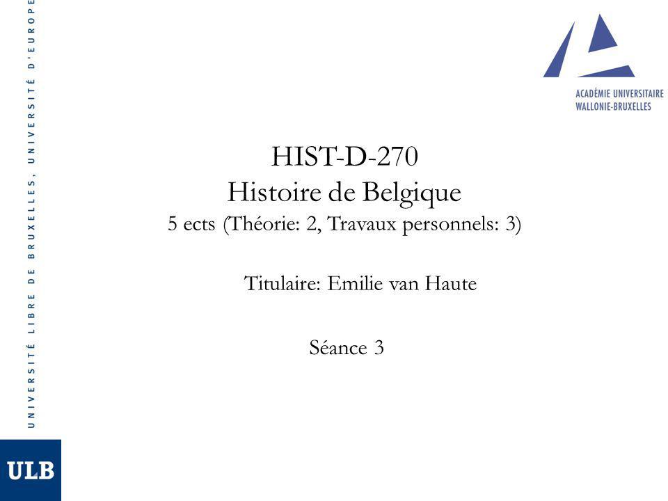 HIST-D-270 Histoire de Belgique