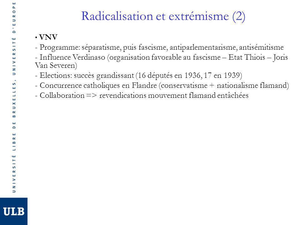 Radicalisation et extrémisme (2)
