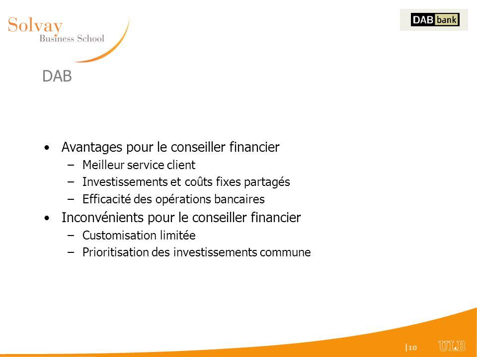 DAB Avantages pour le conseiller financier