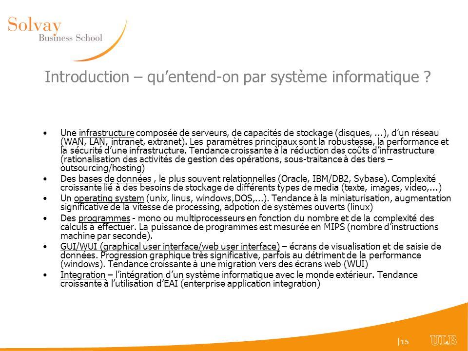 Introduction – qu'entend-on par système informatique
