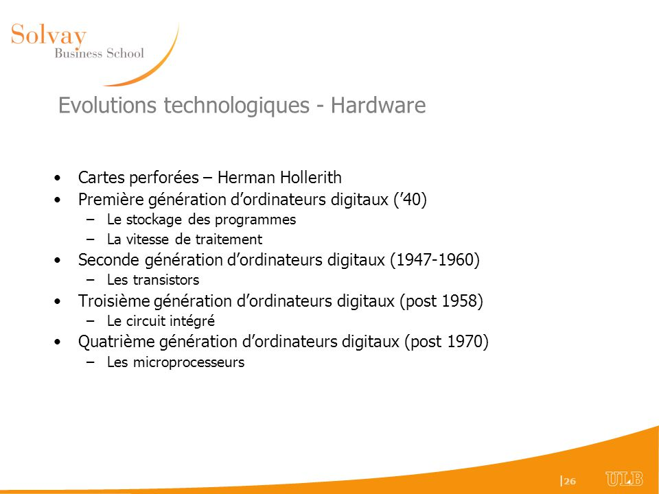Evolutions technologiques - Hardware