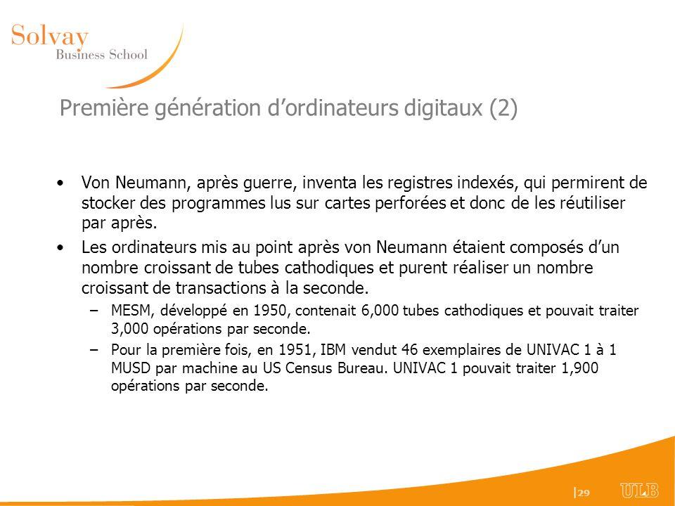 Première génération d'ordinateurs digitaux (2)