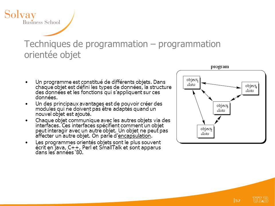 Techniques de programmation – programmation orientée objet