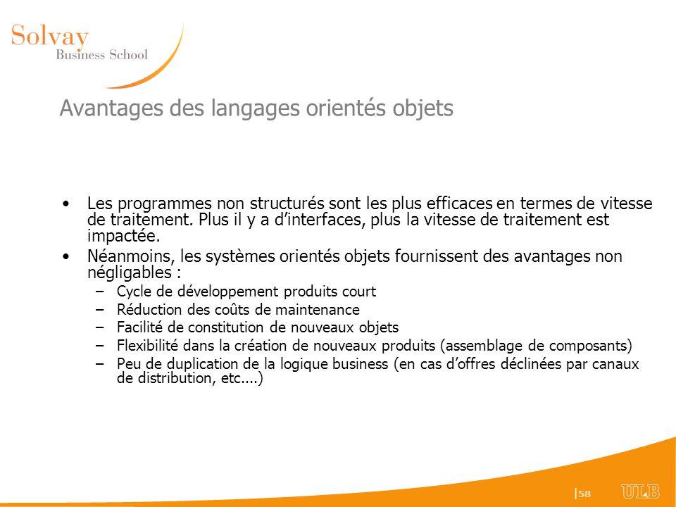 Avantages des langages orientés objets